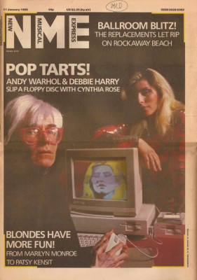 Andy Warhol MOOC: Andy Warhol, Debbie Harry & a period computer on the cover of NME newspaper
