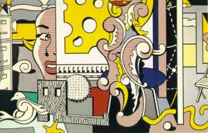 "Andy Was Gay: Roy Lichtenstein's monumental mural ""Go For Baroque"" which incorporates many elements from his history."