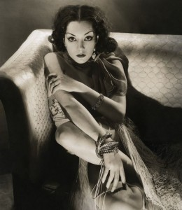 Andy Warhol's Lupe. Black-and-white (possibly selenium-toned) photo of Lupe Vélez on a sofa, by Edward Steichen, 1932