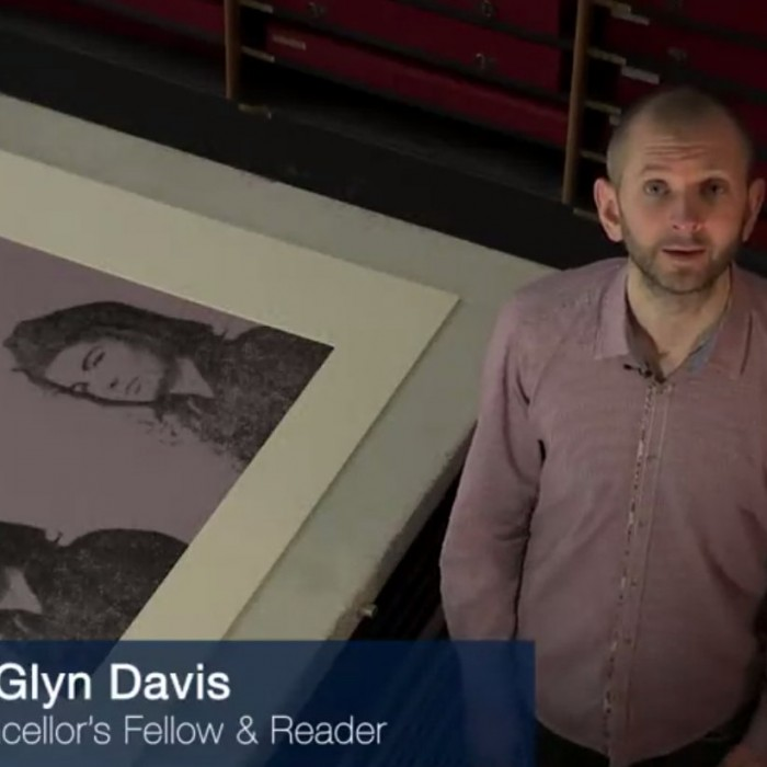 video screen cap of Warhol MOOC instructor Glyn Davis