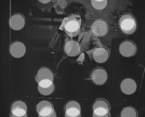"black-and-white frame from Bob Dylan's ""Screen Test"" at The Factory. January 1965"