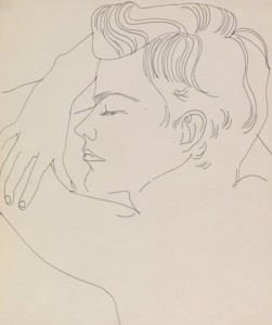 Andy Warhol's drawing Resting Boy