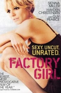 Edie Sedgwick Books: poster for the film Factory Girl