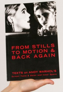 Edie Sedgwick Books: cover of the book From Stills to Motion and Back Again