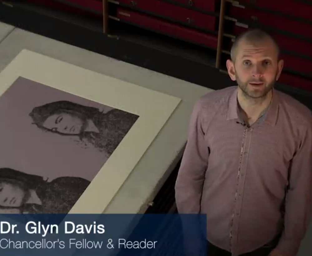 video screen cap of Warhol MOOC instructor Glyn Davis